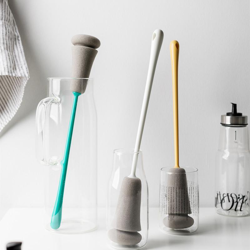 杯刷长柄家用海绵洗玻璃杯子奶瓶保温杯清洁茶渍旋转无死角