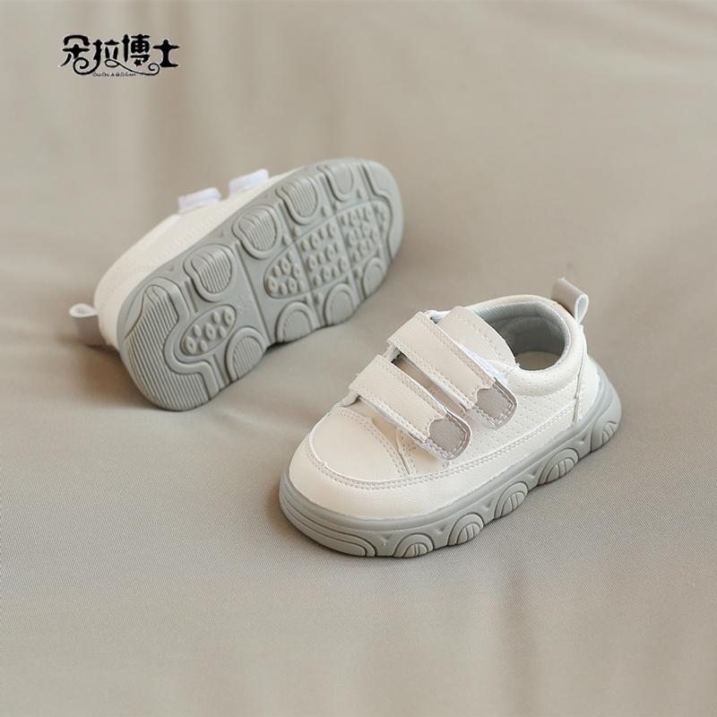 婴儿鞋春秋板鞋软底小童男1-3岁2周半小白鞋子0网鞋宝宝学步鞋女