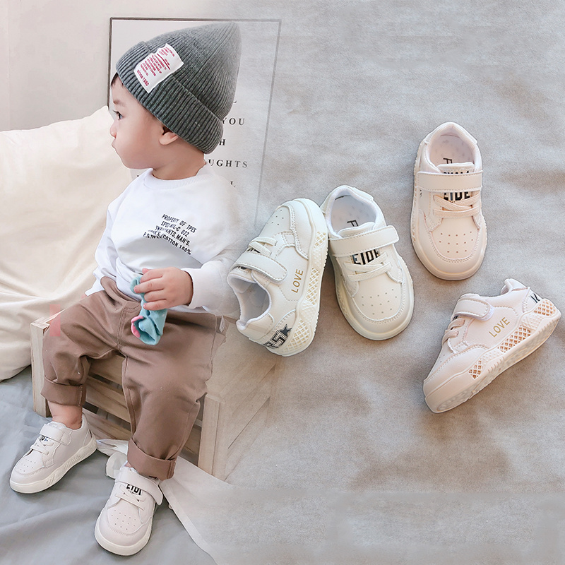 宝宝鞋子春秋1-2岁男婴幼儿二单小白鞋0一3女小童运动学步鞋冬款