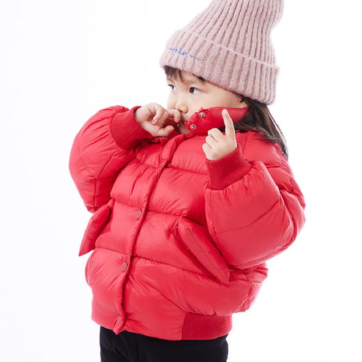 (苹果姐姐专享)巴.拉004儿童羽绒服 加厚保暖可脱卸厚款羽绒服