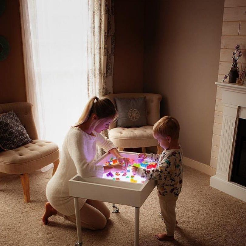 Szreggio幼儿园光影设备 实物投影 light table光桌 瑞吉欧 蒙氏
