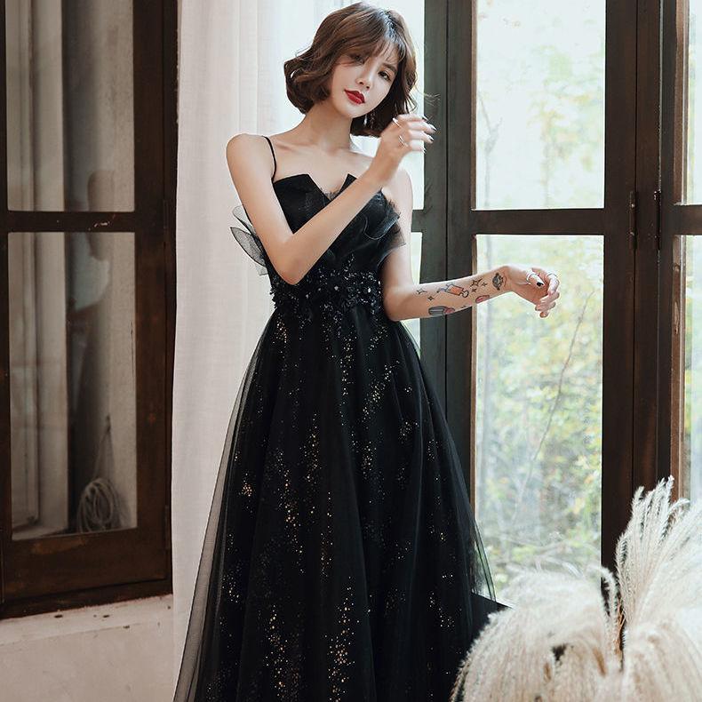54183-晚礼服女2021新款成人礼宴会主持高贵性感长款平时可穿新娘敬酒服-详情图