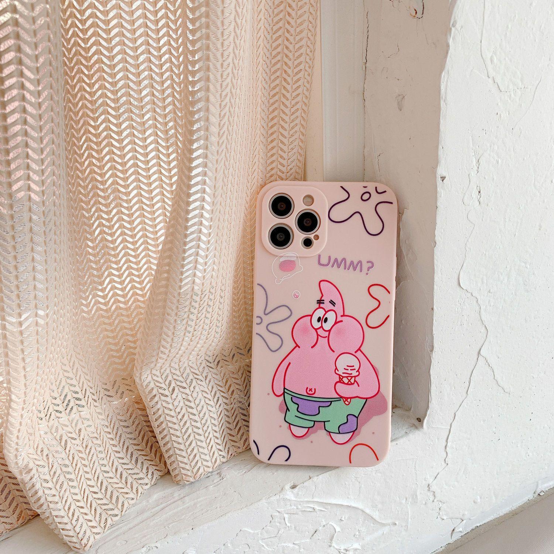 54182-苹果iPhone12ProMax/11/XS/x/xr手机壳可爱卡通少女心保护膜情侣-详情图