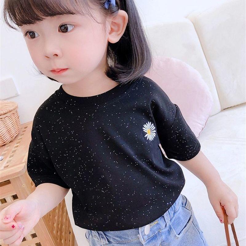 女童莫代尔棉T恤短袖洋气新疆棉