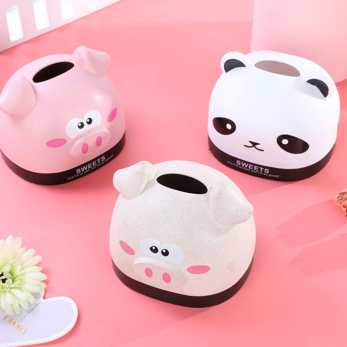 小猪纸巾盒客厅创意可爱抽纸盒卧室少女心北欧纸巾套茶几餐巾纸盒