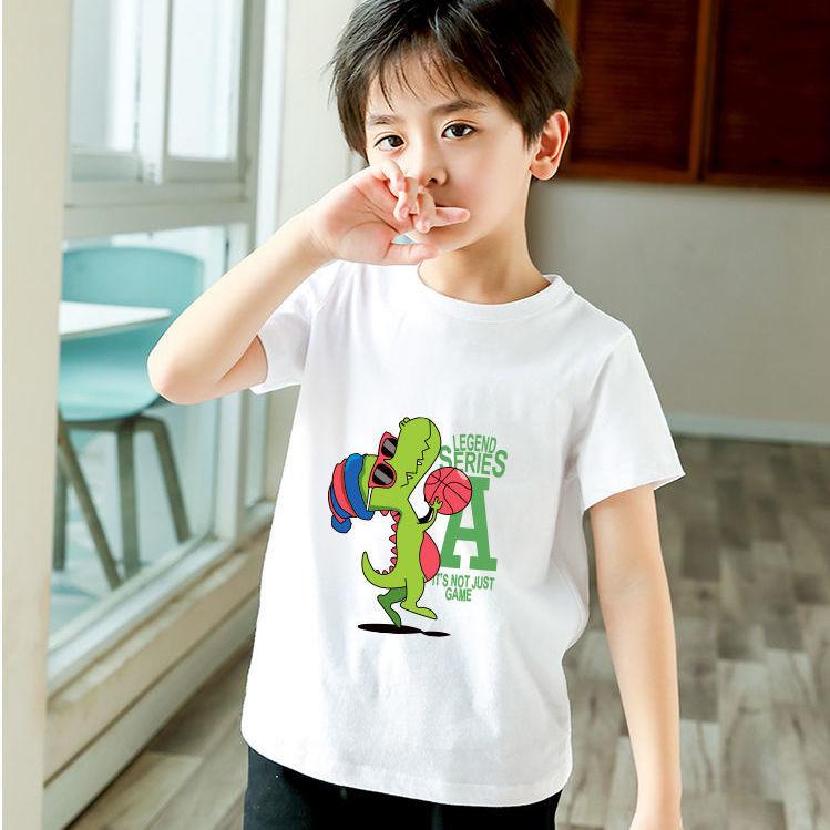 儿童短袖t恤夏季宝宝衣服纯棉半袖男女童T恤中童卡通夏装2021新款