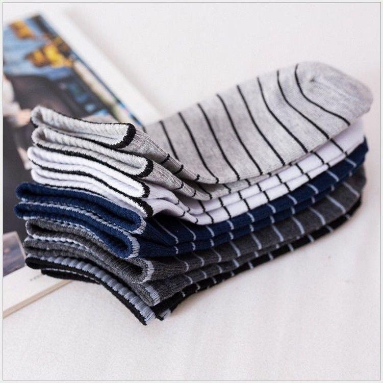 袜子男女潮流运动纯色短袜隐形船袜吸汗中短筒花色袜韩版 3-10双