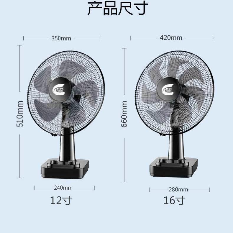 37769-电风扇台式家用16寸大台扇户外摇头便携式静音学生落地扇转页扇-详情图