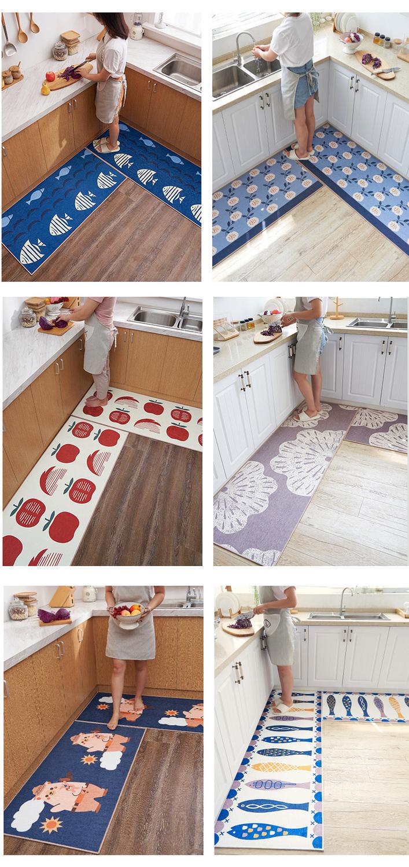 厨房地垫吸水吸油防滑防油防水脚垫长条家用门口进门门垫地毯卧室