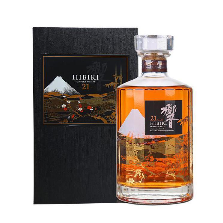 代购 響/响21年花鸟风月机场限量版威士忌 Hibiki日本三得利 洋酒