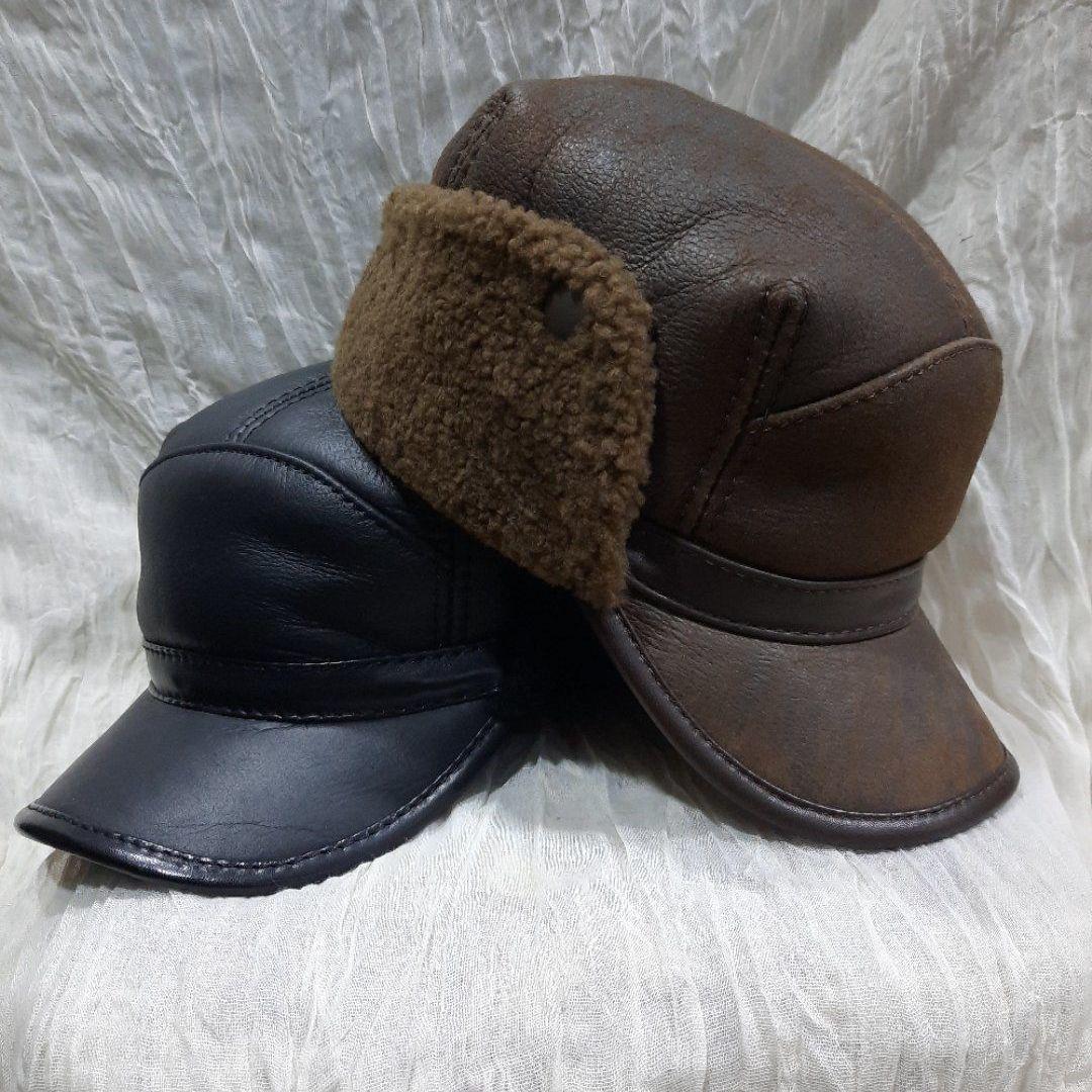 俄罗斯进口皮毛一体骑士帽冬天超级保暖