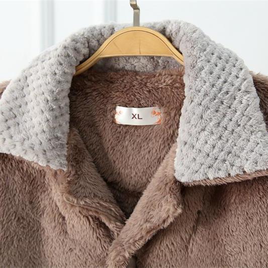 珊瑚绒睡衣男秋冬季加绒加厚睡衣男士家居服套装春秋款法兰绒睡衣