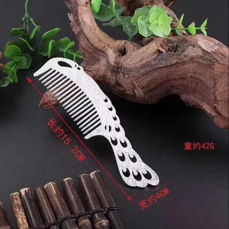 韩版时尚银梳子防脱发防静电按摩梳