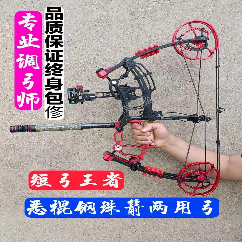 正品恶棍钢珠射箭两用弓复合弓三角弓竞技射箭打鱼复合弓短轴弓箭