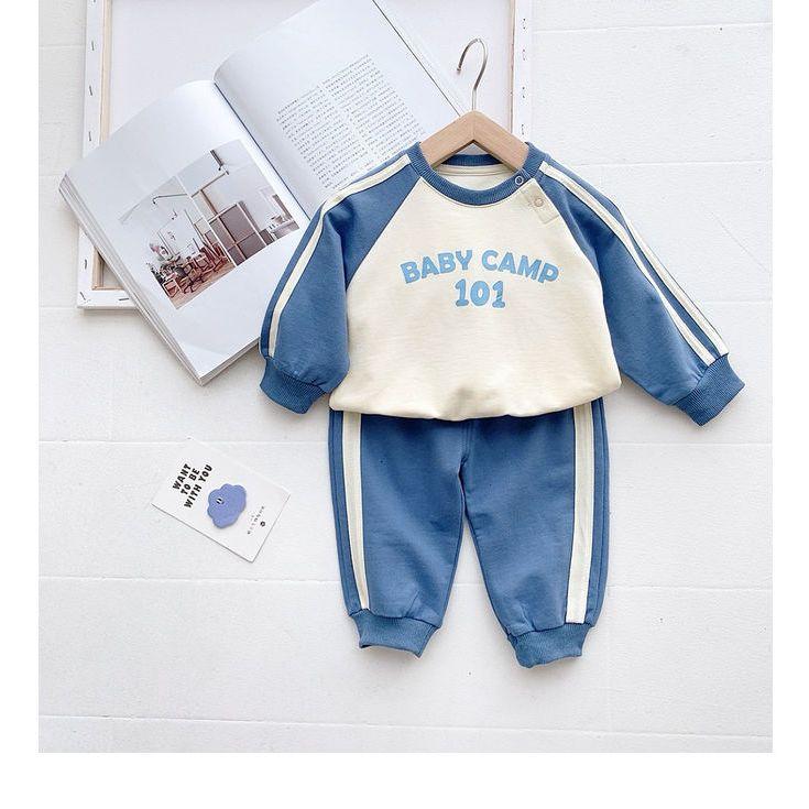 嘟嘟家儿童春装套装网红宝宝春秋卫衣两件套洋气女小童运动服男童