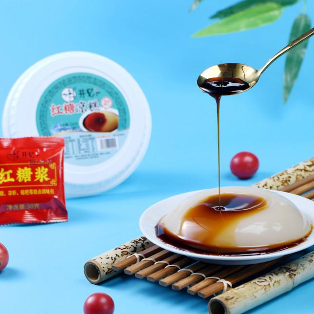 凉糕红糖味方便即食消暑240gX30盒/件x100件低糖无脂