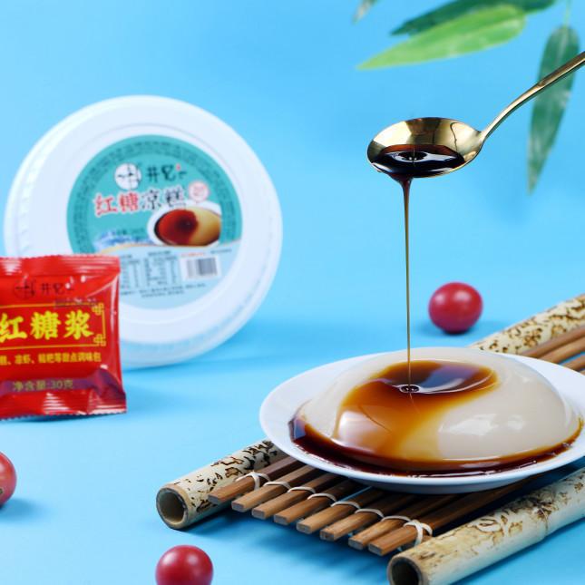 凉糕红糖味方便即食消暑240gX30盒/件x50件低糖无脂