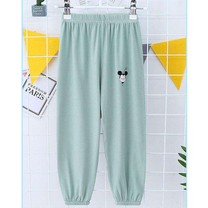 儿童防蚊裤男童女童夏季薄款冰丝灯笼裤