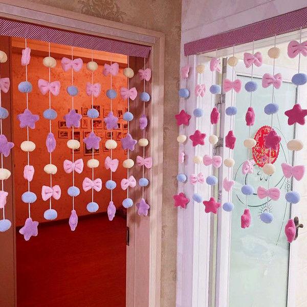 卧室装饰少女心儿童公主房门帘窗帘墙饰免打孔可定制批发