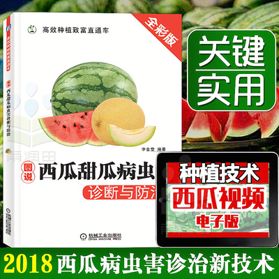 图说西瓜甜瓜病虫害诊断与防治关键技术 西瓜种植技术书籍