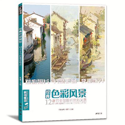 经典全集 色彩风景水粉画临摹书籍写生联考艺考对应照片